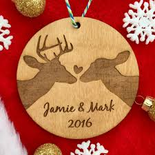 Christmas Ornament Wedding Gift Personalized Couple U0027s Christmas Ornament Couple Ornament