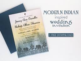 contemporary indian wedding invitations free diy modern indian wedding invitation print