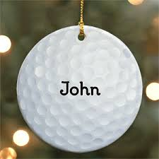 personalized golf ornaments decore