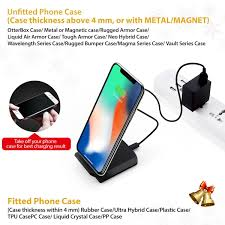 amazon com seneo iphone x wireless charger fast wireless charger