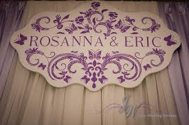 wedding backdrop name joyce wedding service rosanna and eric s wedding on may 17 2014