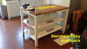 adding shelves to the stenstorp kitchen island ikea hackers