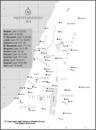 Map Of Canaan Bible Maps