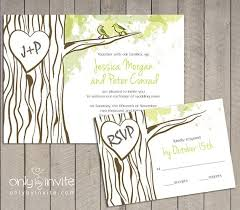 tree wedding invitations tree wedding invitations cloveranddot