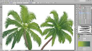 how to draw a palm tree in adobe illustrator youtube