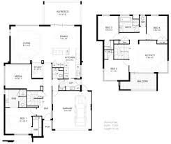 modern two house plans 2 storey modern house designs and floor plans two floor house