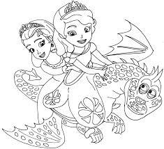 free printable sofia cartoon coloring books