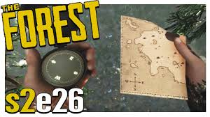 Map Location Compass U0026 World Map Location The Forest Gameplay S2e26 Alpha