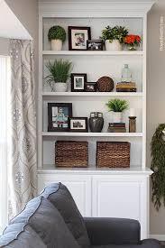 Decorating Bookshelves Ideas by Best 20 Living Room Shelves Ideas On Pinterest Living Room