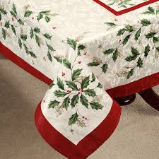 lenox holiday table linens