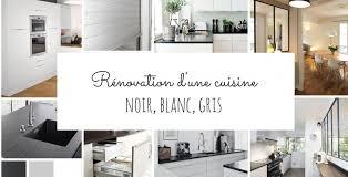 cuisine noir et blanc rénovation d une cuisine en noir et blanc