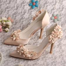 wedding shoes china custom handmade flower wedding shoes bridal chagne