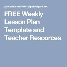 the 25 best weekly lesson plan template ideas on pinterest