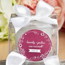 personalized candles favor favor