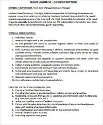 Service Desk Operations Manager Job Description Night Auditor Job Description Sample 8 Examples In Word Pdf