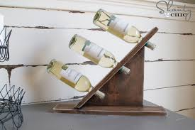 Diy Wood Wine Rack Plans by Diy Wine Bottle Holder Shanty 2 Chic