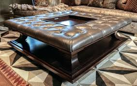 serving tray side table serving trays for ottomans leather storage ottoman as side table