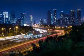Tel Aviv Future Skyline Sunset At Science Walkway Next To Tel Aviv University Israel In