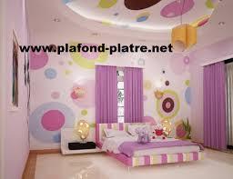 decoration en platre chambre des filles décoration plafond moderne plafond platre