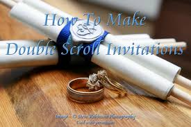 scroll wedding programs make your own scroll wedding invitations diy