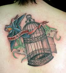 birdcage ghost by danielle distefano only you tattoo