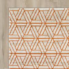 Modern Orange Rugs by Gray And Burnt Orange Rug Creative Rugs Decoration
