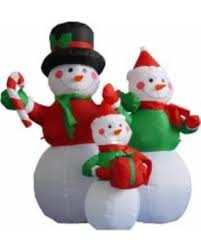 lighted plastic christmas yard decorations savings on 4 inflatable lighted snowman family christmas yard art