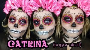 halloween makeup tutorials 2016 la catrina sugar skull lily