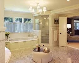 bathroom astonishing glass chandelier bathroom on white plafond