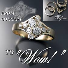 wedding rings redesigned custom jewellery design before and after zoran designs jewellery
