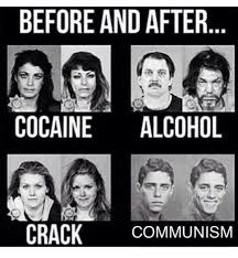 Crack Cocaine Meme - before and after cocaine alcohol crack communism alcohol meme on