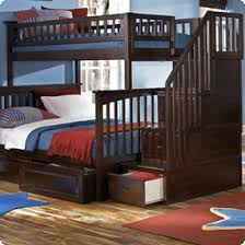atlantic furniture columbia staircase bunk bed twin over full
