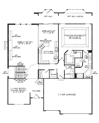 1 1 2 Story Floor Plans | floorplan single story open floor plans simple cottage house tudor