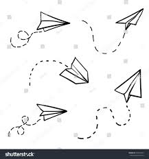 vector paper airplane travel route symbol stock vector 638364703
