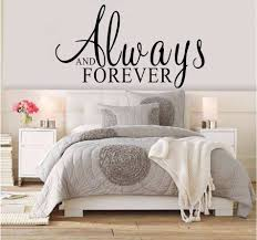 always and forever quotes wall stickers bedroom wall decals quotes wall stickers decals