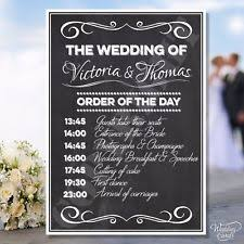 wedding program sign wedding order of service ebay