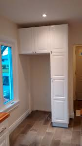 Kitchen Cabinets Refrigerator Surround by Fridge Surround Using Ikea Kitchen Cabinetry And Pull Out Pantry