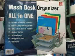 all in one desk organizer mesh desk organizer all in one costco desk ideas