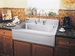Stainless Steel Apron Front Kitchen Sinks Apron Front Kitchen Sink With Backsplash Stainless Kitchen Sink