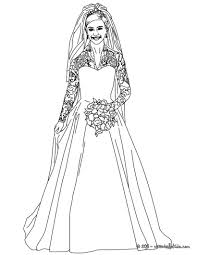 wedding dress coloring sheets