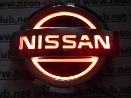 nissan red 5d nissan red neon logo