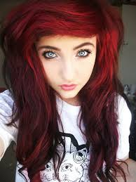 how to put red hair in on the dide with 27 pieceyoutube short red scene hair tumblr haircut ideas pinterest scene