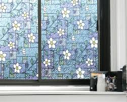 aliexpress com buy flower privacy textured stained glass window