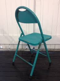 Vintage Outdoor Folding Chairs Vintage Metal Folding Chair Teal U2013 Sourceress The Store
