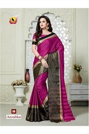 Buy Violet Embroidered Art Silk Buy Anushka Ashika Designer Partywear Art Silk Saree Online From