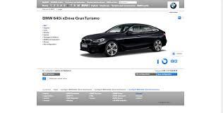 bmw 6 series gran turismo online configurator now live