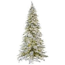 fraser hill farm 12 foot flocked snowy pine tree free