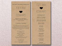 diy wedding program template kraft wedding program template from paintthedaydesigns