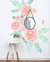 wall stickers by simple shapes peel and stick world map art spring garden flowers wall sticker