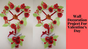 diy wall decoration project for valentine u0027s day heart decorating